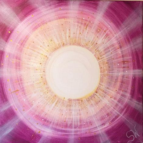 Energiebild handgemalt Kunst Künstlerin Stefanie Will Ammersee München Acrylmalerei Spiritualität