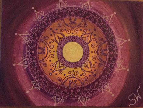 Mandala Mandalabild handgemalt Kunst Stefanie Will Leinwand Künstlerin Liebe Ammersee Kreativität Energie Spiritualität