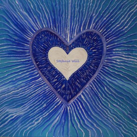 Energiebild Stefanie Will Stefanies Wandmagie Künstlerin Ammersee Quelle Göttlich Liebe Bewusstsein selbstgemalt