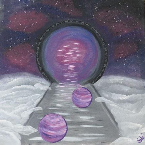 Kunst Künstlerin Stefanie Will Ammersee Quelle Göttlichkeit Bewusstsein Seelenweg Energiebild selbstgemalt Acrylmalerei