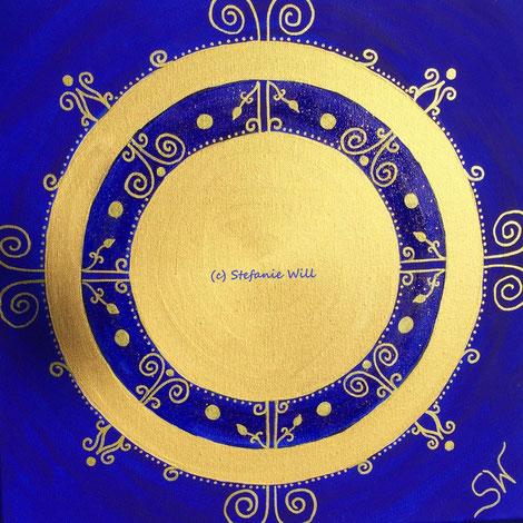 Mandala Mandalabild handgemalt Energiebilder Stefanie Will Leinwand Künstlerin Liebe Ammersee Kreativität Energie Spiritualität Kunst