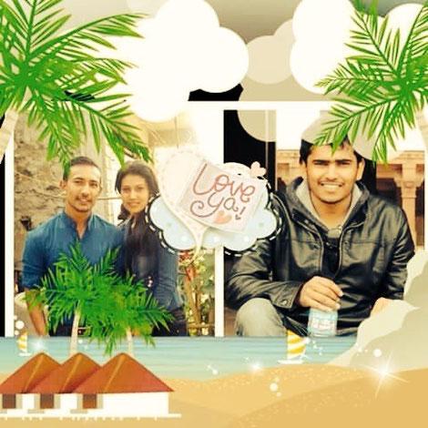 Liebesbeweis einer Schwester an ihre Brüder: rechts Gocool, links Raj Kumar und Dibisha