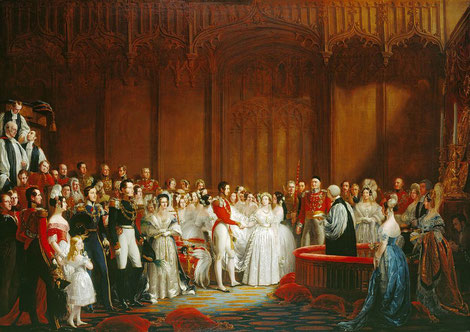 1840年2月 ヴィクトリア女王とアルバート公の結婚式