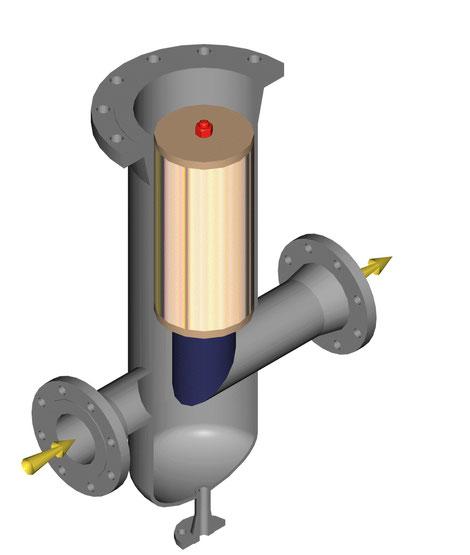 Filtre à gaz horizontal ; codap equipement sous pression