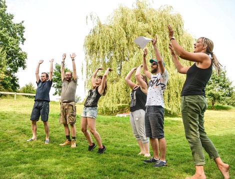 Camp breakout, Digital Detox, teamevent.de, Teamevent, Firmenevent, Betriebsausflug, Schnurstracks, Teambuilding, Entspannung
