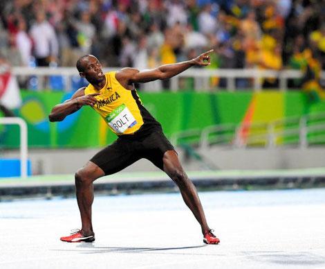 5種要素が強いボルト選手は肩幅が広く逆三角形の体型、また前腕と膝から下が長い傾向がある。