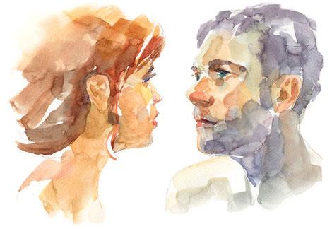 Partnerschaft Kommunikation Augenkontakt Konfliktlösung Respekt für einander Geschlechtsidentität