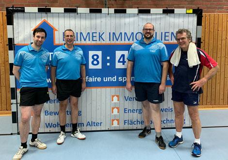 Mit einer geschlossener Mannschaftsleistung zum zweiten Saisonsieg (v.l. Stefan Wirtz, Jürgen Dörr, Stefan Klimek und Dr. Dieter Berger)