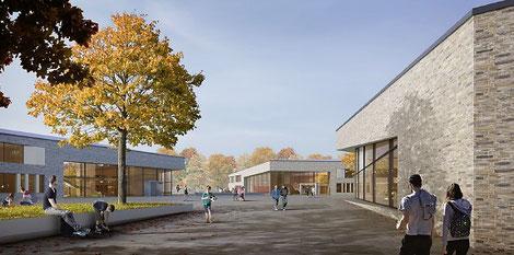 Architekturentwurf Neubau Bildungscampus Zarrentin