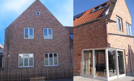Foto des fertiggestellten und zertifzierten Einfamilienhauses in Lübeck