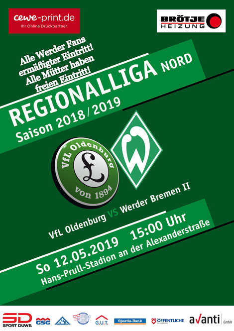 Werder Fans ermäßigt - Mütter frei