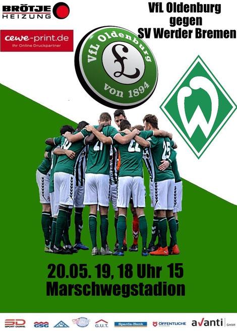 """""""Werder möchte sich allen Fans der Region um und in Oldenburg noch einmal zeigen und sich für die tolle Unterstützung bedanken"""", frohlockte Reiner Bartels zu diesem Event."""