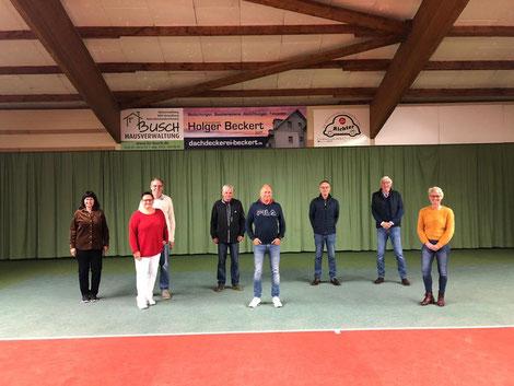 (v.l.:) Marlen Harms, Ulrike Rauch, Steffen Rauch, Wolfgang Schmidt, Michael Holstein, Uwe Reuter, Uwe Giebel, Steffi Holstein