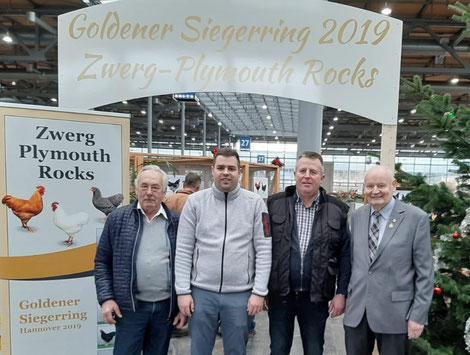 v.l.n.r. Reinhard Weidauer, Danny Richter, Jörg Richter, Jürgen Stern