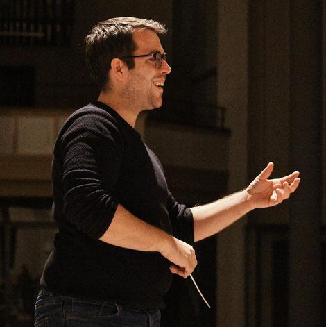 Dirigent des Modernen Blasorchesters Kurpfalz-Oppau: Dominique Civilotti (Bildrechte: MBO)