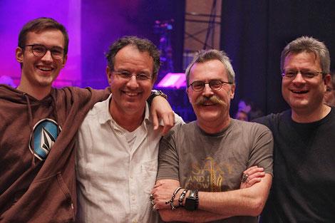 Von links nach rechts: David Sabasch, Werner Armbrust, Georg Kraus und Matthias Meier (Bildrechte: Sabine Köstlmaier)