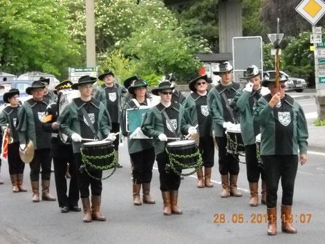 Der letzte Auftritt des Spielmannszug Kurpfalz Oppau  2011 vor seiner Umstrukturierung zum Modernen Blasorchester Oppau (Bildrechte: MBO)