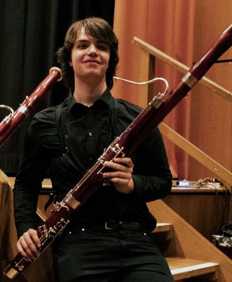 Marius Stahl, Fagottspieler im Modernen Blasorchester Oppau (Bildrechte: MBO)