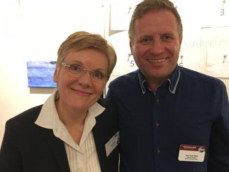 Astrid Fiedler (Präsidentin Rednerclub Bergedorf), Jens-Uwe Adler (Area-Director A2, District 95 TMI)