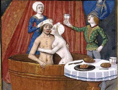 Les étuves ou bains publics au Moyen-Âge.