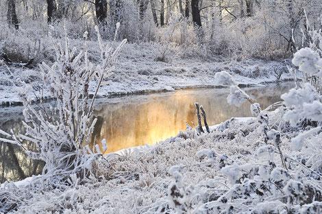 Le Canal du Midi sous la neige - crédit photo : Pixabay© Larisa-K