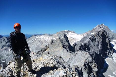 Jubiläumsgrat von der Zugspitze zur Alpspitze mit Bergführer, eindrucksvolle Gratkletterrei über den 7km langen Jubiläumsgrat mit Bergführer