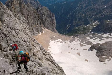 Führung mit Bergführer durch das Höllental auf die Zugspitze, Klettersteig Höllental mit Bergführer