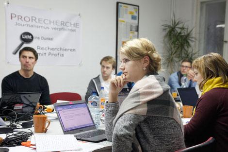 Erste ProRecherche-Werkstatt  in Berlin.   Foto: Franziska Senkel
