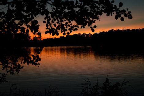 Sonneuntergang Baven See Schweden