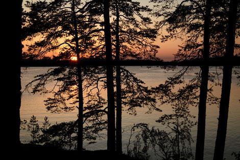 Sonnenuntergang Schweden, Baven See, Pfadfinder Aachen