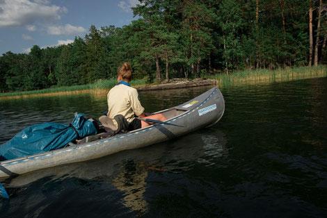 Kanutour Pfadfinder auf Baven See
