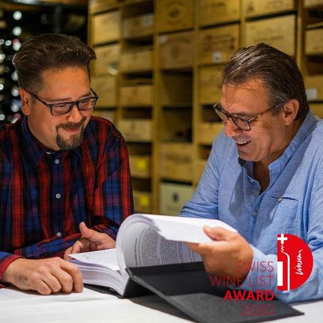 Der Inhaber Roger Hirzel und unser Kellermeister Stefan Jost