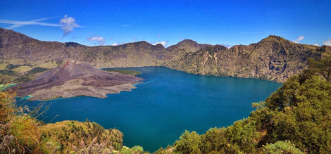 Segara Anak Crater Lake, Danau Segara Anak, Lokasi Campsite, Campsite Location in Mt Rinjani National Park.