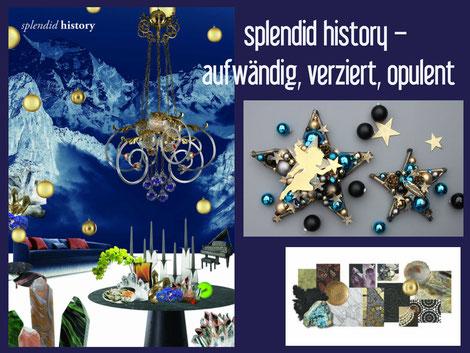 dekotrend, weihnachtsdeko, blau, gold, schwarz, Blogbeitrag über Einrichtungstrends