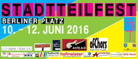 Straßenbanner 2106 Stadtteilfest Berliner Platz, Goldberg, Sindelfingen