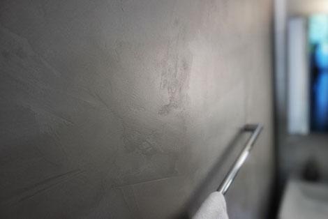 Badezimmer fugenloser Wandbelag in Steinoptik mit matter Versiegelung #lebewunderbar #zuerich