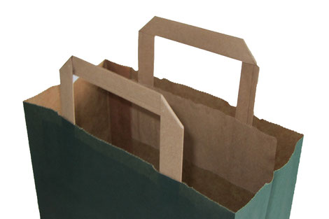 Papiertasche mit Papiergriffen
