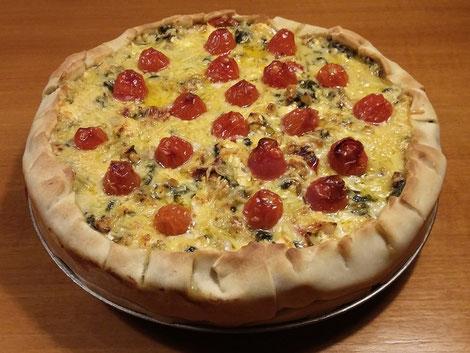 Heerlijke spinazie-feta taart