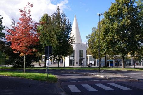 Blick auf den Bahnhofsvorplatz in  Göttingen