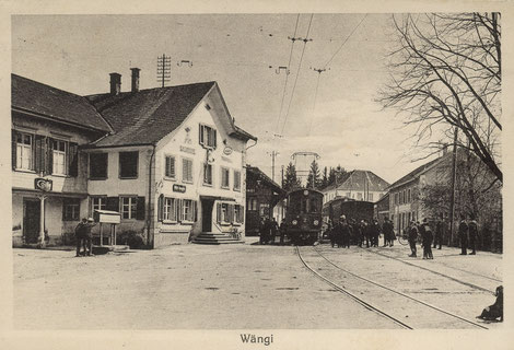 Schäfliplatz um 1920 mit Frauenfeld-Wil Bahn