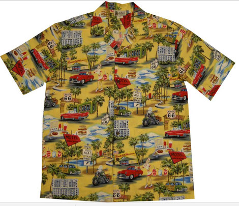 "Original Hawaiihemd ""Route 66"" von Rocheteers"