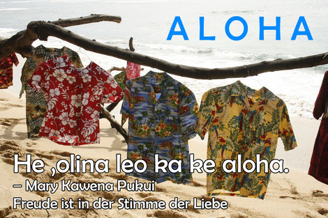 Hawaiihemden im Wind