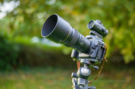 Nikon D500 + Nikon 300mm f/4 + Omegon Leuchtpunktsucher