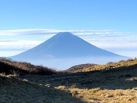 箱根元宮から眺める富士山