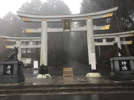 霧の三峯神社