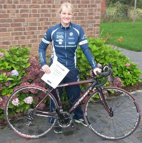 Katrin Fronzek glücklich nach dem Wettbewerb.
