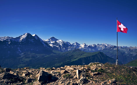 Auf dem Gipfel des Faulhorn