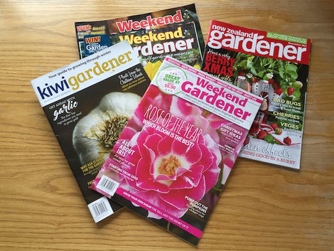 Illustrierte magazins Weekend Gardener kwiw New Zealand mags