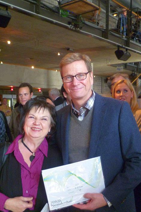 Katy Schnee mit Guido Westerwelle, 28.10.2012