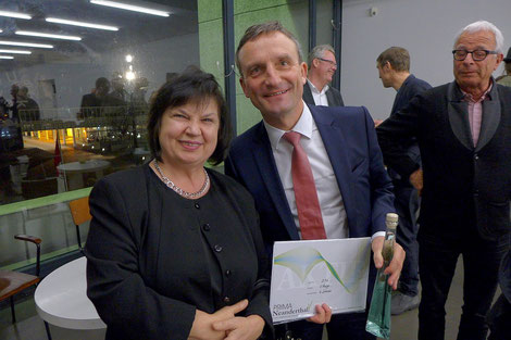 Katy Schnee, Oberbürgermeister Thomas Geisel, 19.02.2015